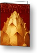 Lao Greeting Cards - Lao Lotus Greeting Card by Skip Hunt