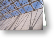 Anna Villarreal Garbis Greeting Cards - Lines and Shadows III Greeting Card by Anna Villarreal Garbis