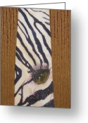 Black And White Tapestries - Textiles Greeting Cards - Listen Up Greeting Card by David Kelly