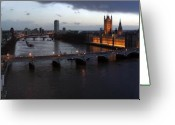 London Greeting Cards - London at Dusk Greeting Card by Gary Lobdell