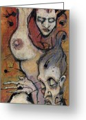Couple Mixed Media Greeting Cards - Love Greeting Card by Mark M  Mellon