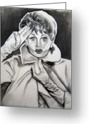 Lucille Ball Greeting Cards - Lucy Greeting Card by Toni  Thorne