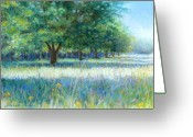 Live Oak Trees Greeting Cards - Mamas Day Greeting Card by Susan Jenkins