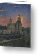 Saint Painting Greeting Cards - Manti Sunrise Greeting Card by Jeff Brimley