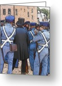 Social Comment Greeting Cards - Marines At Harpers Ferry Greeting Card by Robert Boyette