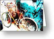 Funkpix Greeting Cards - Marrakech Funky Bike  Greeting Card by Funkpix Photo  Hunter