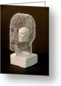 Male Sculpture Greeting Cards - Mask Greeting Card by Gary Kaemmer