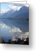 Lake Mcdonald Greeting Cards - McDonald Reflection Greeting Card by Marty Koch