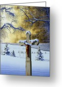 Egg Tempera Greeting Cards - Mea Culpa Greeting Card by Conrad Mieschke