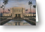 Arizona Greeting Cards - Mesa Temple Greeting Card by Jeff Brimley