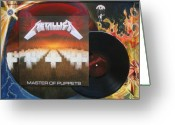 Metallica Painting Greeting Cards - Metallica Greeting Card by Muriel Dolemieux