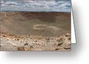 Meteor Photo Greeting Cards - Meteor Crater Greeting Card by Ryan Heffron