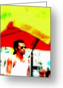Funkpix Greeting Cards - Miami Attitude Greeting Card by Funkpix Photo  Hunter
