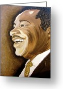 Keenya Woods Greeting Cards - MLK Smiles 2 Greeting Card by Keenya  Woods