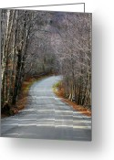 Fall Cards Greeting Cards - Montgomery Mountain Rd. Greeting Card by Deborah Benoit