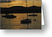 The Berkshires Greeting Cards - Moored Greeting Card by Peter Williams