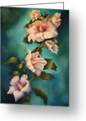 Althea Greeting Cards - Mothers Rose of Sharon Greeting Card by Marti Bailey