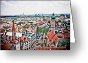Munich Greeting Cards - Munich Greeting Card by Dean Farrell