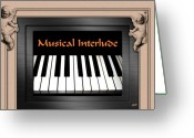 Bygone Greeting Cards - Musical Interlude Greeting Card by Will Borden