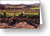 Contry Greeting Cards - Napa Carneros Summer Light Greeting Card by Takayuki Harada