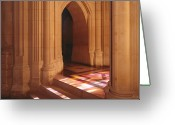 Washington Cathedral Greeting Cards - National Cathedral Steps in Washington DC Greeting Card by Carol M Highsmith