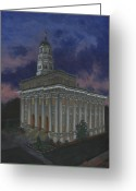 Flag Day Greeting Cards - Nauvoo Sunset Greeting Card by Jeff Brimley