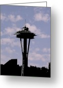 Seattle Greeting Cards - Needle in the clouds Greeting Card by Tim Allen