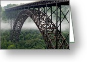 West Virginia Greeting Cards - New River Gorge Bridge West Virginia Greeting Card by Brendan Reals