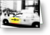 Manhattan Greeting Cards - NYC Cab Greeting Card by Funkpix Photo  Hunter