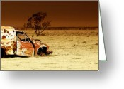 Holes Greeting Cards - Off Road Greeting Card by Holly Kempe
