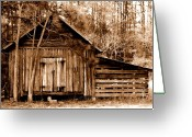 Dana Oliver Greeting Cards - Old Barn Greeting Card by Dana  Oliver