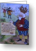 Cole Greeting Cards - Old King Cole Greeting Card by Victoria Heryet
