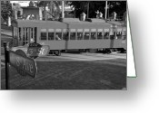 Historic Street Greeting Cards - Old Ybor City trolley Greeting Card by David Lee Thompson