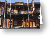 Street Scene Greeting Cards - Old Ybor Greeting Card by David Lee Thompson