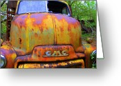 Trucks Greeting Cards - Ole Rusty Full Frontal Greeting Card by Dana  Oliver