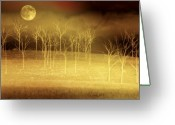 Bare Greeting Cards - Only at Night Greeting Card by Holly Kempe