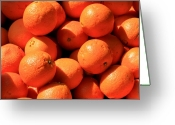 Market Greeting Cards - Oranges Greeting Card by David Dunham