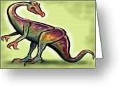 Dinosaur Greeting Cards - Ornithomimus Greeting Card by Kevin Middleton