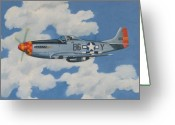 Murray Mcleod Greeting Cards - P51 Mustang Greeting Card by Murray McLeod
