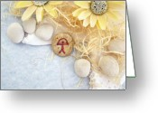 Gift Jewelry Greeting Cards - PEACE good luck stone Greeting Card by Melanie Bourne