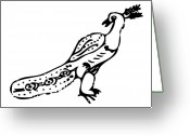 Exotic Bird Greeting Cards - Peacock Bird Greeting Card by Karl Addison