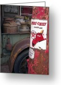 Gas Stations Greeting Cards - Pit Stop Greeting Card by Richard Rizzo