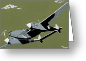 Airplane Greeting Cards - Plane Jane 2 Greeting Card by Slade Roberts