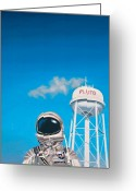 Science-fiction Art Greeting Cards - Pluto Greeting Card by Scott Listfield