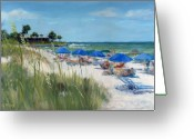Oats Greeting Cards - Point of Rocks on Siesta Key Greeting Card by Shawn McLoughlin