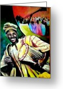 Talking Mixed Media Greeting Cards - Praise Greeting Card by Wale Adeoye