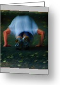 Jogging Greeting Cards - Push Ups Greeting Card by Gerry  Tetz