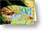Rattler Digital Art Greeting Cards - Rattler Greeting Card by Peter  McIntosh