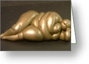 Nature Sculpture Greeting Cards - Reclining Nude Greeting Card by Gary Kaemmer