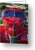 Clayton Greeting Cards - Red Hot Rod Greeting Card by Clayton Bruster